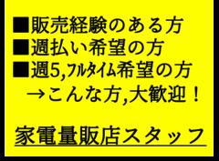 家電量販店・販売スタッフ/新橋